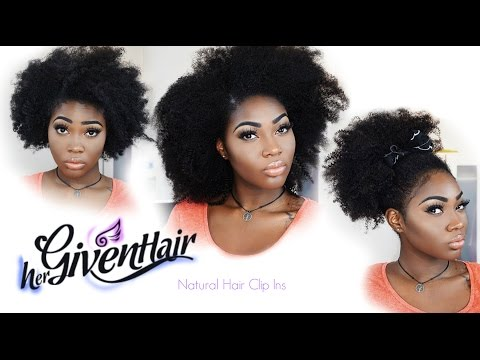 The Best Human Hair Clip Ins for Natural Hair | Review & Styling | HerGivenHair