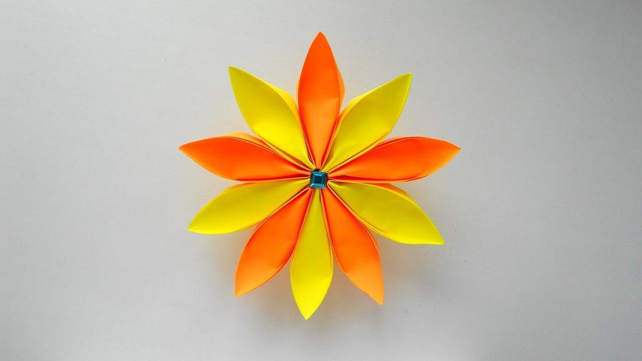 Цветок из бумаги на подарки 961