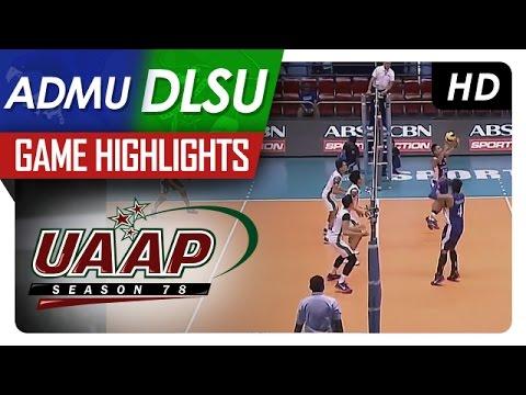 UAAP 78 MV: DLSU vs ADMU Game Highlights