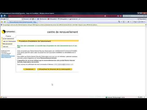 Norton Internet Security 2006 :renouveler son abonnement