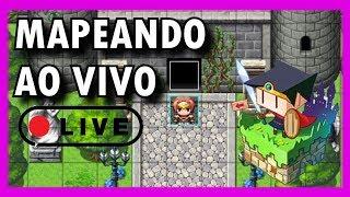 10+ Horas de Live Mapeando!【RPG Maker MV】