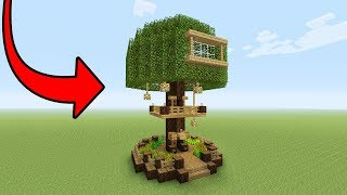 """Minecraft Tutorial: How To Make A Beginner Tree House """"Easy Tree House"""""""