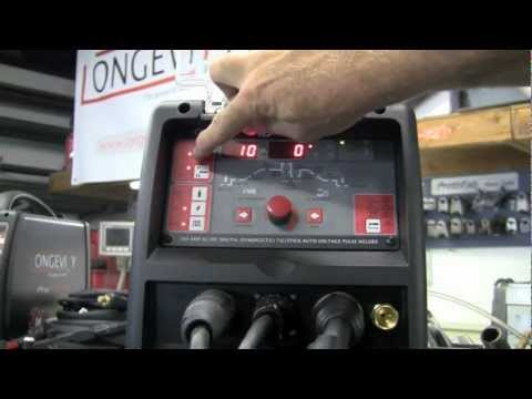 LONGEVITY TIGWELD 200 EX TIG STICK WELDER REVIEW DIGITAL CONTROLS ACDC PULSE WELDING SETUP PART 1