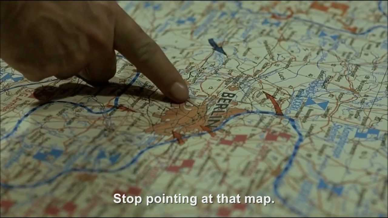 Hitler and map pointing Krebs