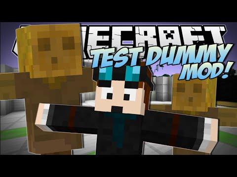 Minecraft   TEST DUMMY MOD! (The Indestructible Object!)   Mod Showcase