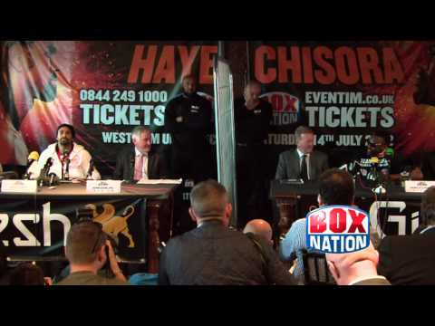 Haye v Chisora: head to head - press conference on BoxNation