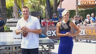 Rob Gronkowski Takes on 'Extra's' Charissa Thompson in Throwing Contest