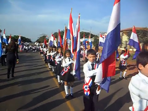 Desfile Bicentenario del Paraguay Col  San Jorge Cruce Liberacion
