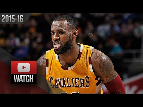 LeBron James Full Highlights vs Hawks (2016.04.11) - 34 Pts, 6 Ast, 6 Reb in 3 Qtrs