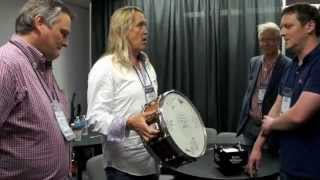 IRON MAIDEN's NICKO MCBRAIN Presented With PREMIER Commemorative Snare Drum