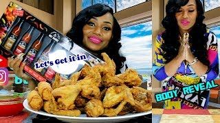 Revealing my new body Fried Wings and Egg Rolls