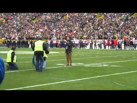 Kris Allen- National Anthem Green Bay vs Tampa Bay Music Videos