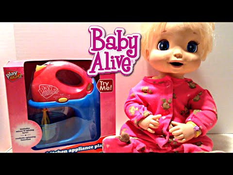 Baby Alive 2006 Beatrix Soft Face Doll eats Your Baby Alive Food Recipes!