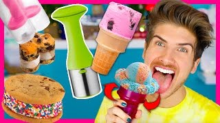TESTING WEIRD ICE CREAM GADGETS!