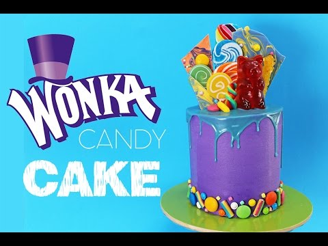 WONKA Candy Cake | How to make a Candy Covered Drip Cake | My Cupcake Addiction