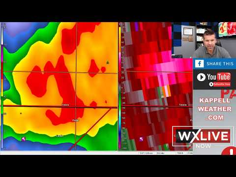 LIVE Severe Weather Coverage.  PDS Tornado Watch Issued.  Thinking of Joplin on   WxLIVE NOW!