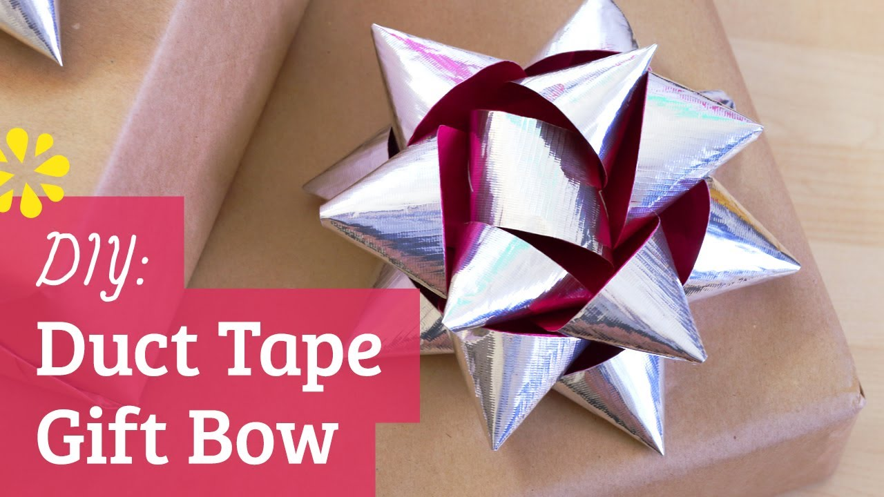 how to make a duct tape gift bow youtube. Black Bedroom Furniture Sets. Home Design Ideas