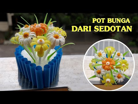 Creative World: How To Make Flower Pots From A Straw | Best Women's Day Gifts