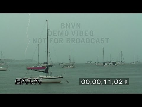 8/9/2008 Sailboats in Bay with Lightning