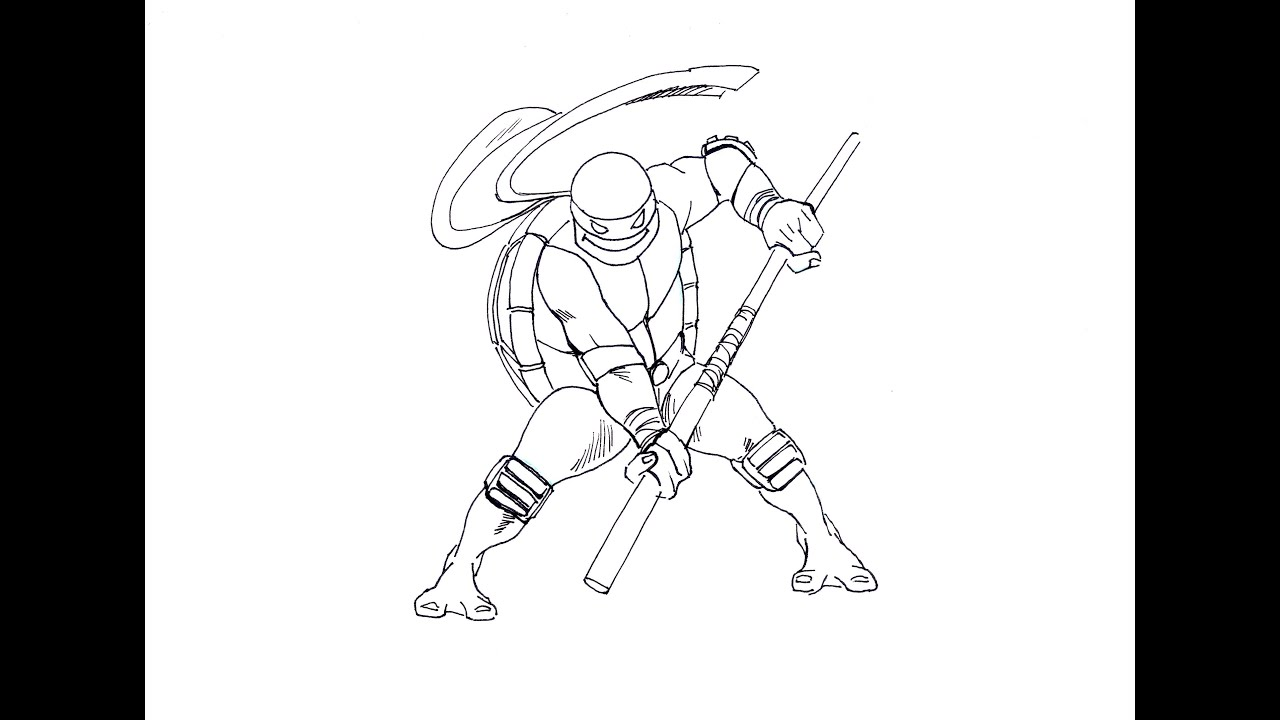 HOW TO DRAW / Como dibujar DONATELLO TMNT (ninja turtles ...