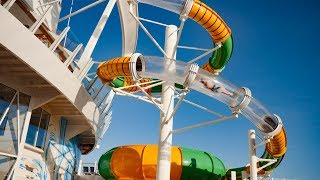 The Perfect Storm Water Slide onboard Symphony of the Seas Cruise Ship