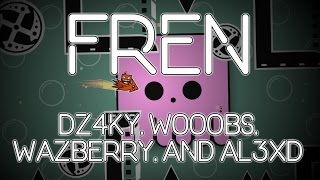 Aamazing collab! Fren by Dz4ky, Wooobs, Wazberry, and Al3xd! // Geometry Dash 2.1 Level (Collab)