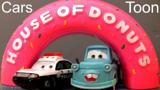 Cars Toon House of Donuts Track Playset Tokyo Mater Disney Pixar Toys review by Blucollection