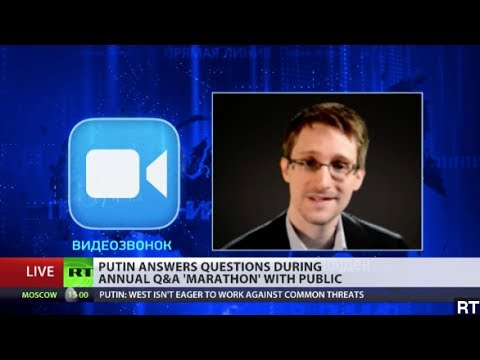 Snowden Asks Putin About Russian Spying On Live TV