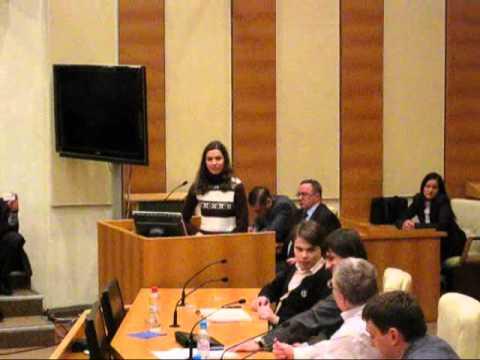 Студентка спорит с Жириновским