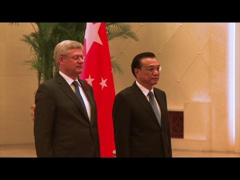 Canadian Prime Minister seeks closer economies with China