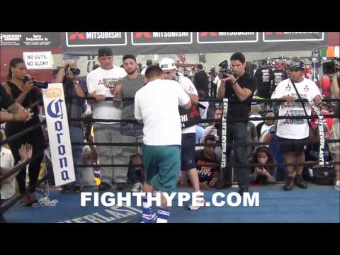 MARCOS MAIDANA TRAINING AND FULL MEDIA DAY FOR REMATCH WITH FLOYD MAYWEATHER