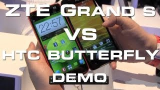 ZTE Grand S vs HTC Butterfly - 5 1080p Flagship Phone Face Off - CES 2013