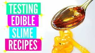 Testing Popular Edible Slime Recipes! How To Make Edible Slime DIY!