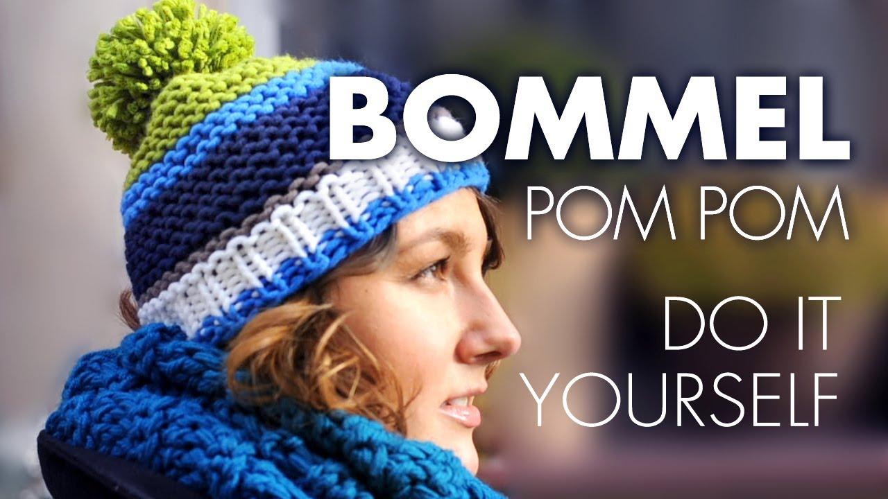 M tzenbommel pompom selber machen youtube - Bommel machen anleitung ...