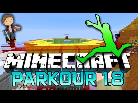 Minecraft: NEW Parkour 1.8 Funny Race Game w/Mitch & Friends!