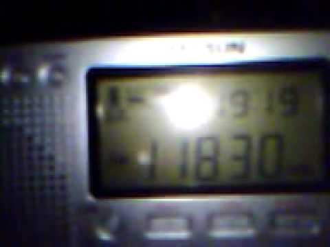 11830 khz - Reception on the hills of Cannes (F) of Adventist World Radio (Meyerton relay)