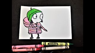 Just Draw: Sarah and Duck Character with Marker and Crayons