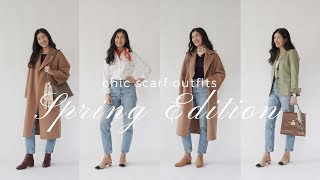 How To Wear Silk Scarves | Spring Outfit Ideas