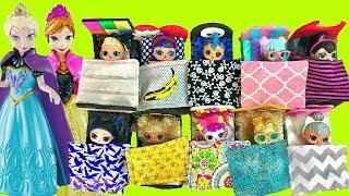 LOL Surprise Dolls have Custom Bed Slumber Party in Cinderella Castle