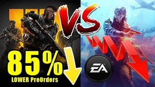 WHAT?! Battlefield V is 85% behind COD: Black Ops 4!