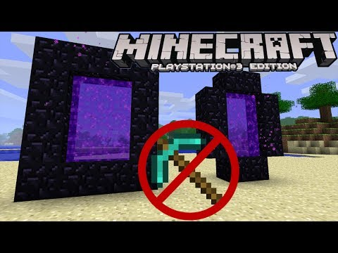 Minecraft PS3 XBOX360 How To Make A Netherportal Without a Diamond Pickaxe