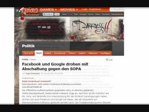 Neuigkeiten statt Nachrichten | Der SOPA Akt und Weiruland (04.01.2012)