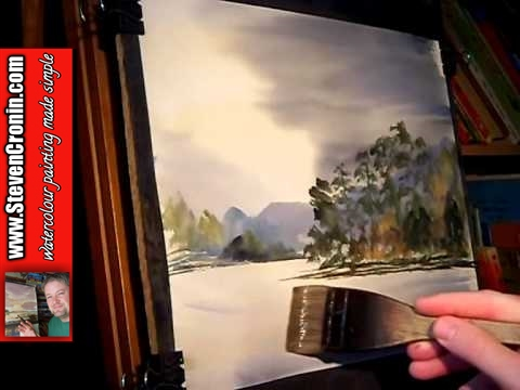 Watercolour Painting Tutorial featuring Loch Eck in Scotland