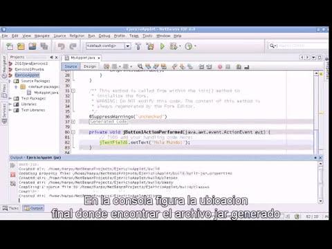 Creacion de Applets usando Netbeans