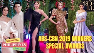WINNERS of ABS CBN BALL 2019 SPECIAL AWARDS