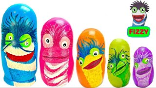 Learning Colors for Kids Video with Fizzy Fun Toys Nesting Eggs