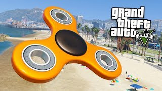 WORLD'S BIGGEST FIDGET SPINNER!! (GTA 5 Mods)