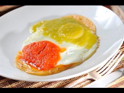 Huevos divorciados - Recetas de cocina mexicana faciles y economicas - Recetas de desayunos