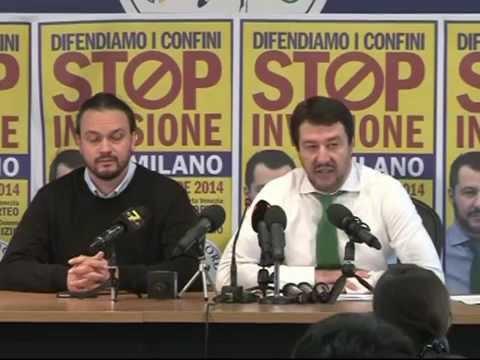 Regionali Emilia Romagna - Conferenza stampa di Matteo Salvini e Alan Fabbri