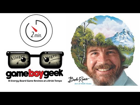 Bob Ross: The Art of Chill (Allegro 2-min) Review with the Game Boy Geek